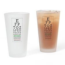Eye Chart Drinking Glass