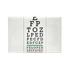 Eye Chart Rectangle Magnet