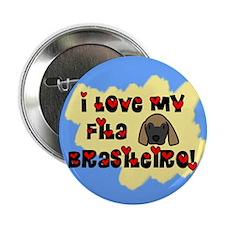 Love Fila Brasileiro Button