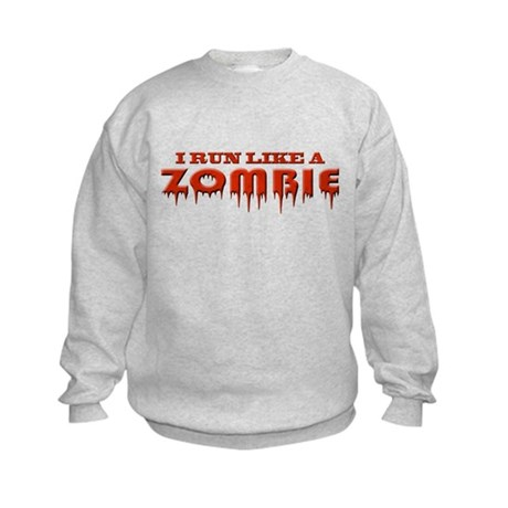Run like a zombie Kids Sweatshirt