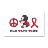 Ladybug Peace Love Hope Car Magnet 20 x 12