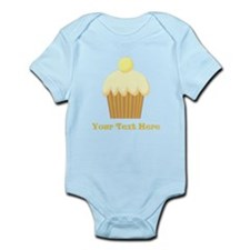 Vanilla Cupcake and Text. Infant Bodysuit
