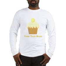 Vanilla Cupcake and Text. Long Sleeve T-Shirt