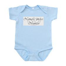 Namaste, bitches. Namaste Infant Bodysuit