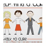 Walk To Cure Tile Coaster
