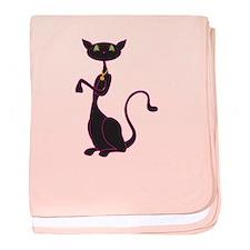 Le Meow Noir baby blanket