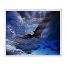 American Glory Throw Blanket