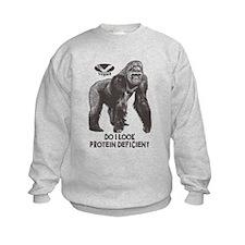 Do I look Protein Deficient? Kids Sweatshirt