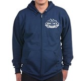 Big Sky Mountain Emblem Zipped Hoodie