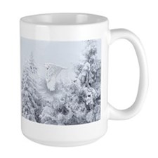 Snowy Owl in Blizzard Mug