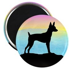"Cute Fox terrier breed art 2.25"" Magnet (10 pack)"
