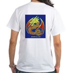 Two Dragons White T (2-sided)