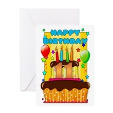 11th Birthday Greeting Card With Balloons And Cake