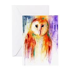Solo Owl ~ Single Greeting Card