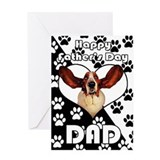 Basset Hound In Heart Father's Day Greeting Card F