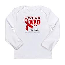 AIDS/HIV Red Ribbon Awareness Templates Long Sleev