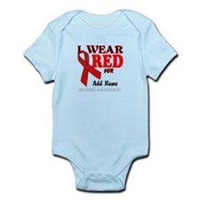 AIDS/HIV Red Ribbon Awareness Templates Infant Bod