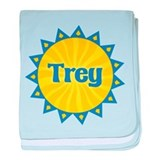 Trey Sunburst baby blanket