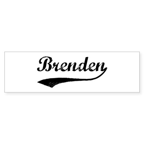 Vintage: Brenden Bumper Sticker
