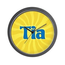 Tia Sunburst Wall Clock