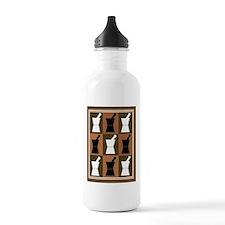 pharmacist blanket popart brown.PNG Water Bottle