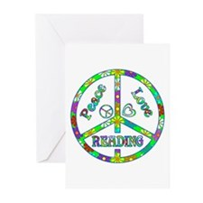 Peace Love Reading Greeting Cards (Pk of 10)