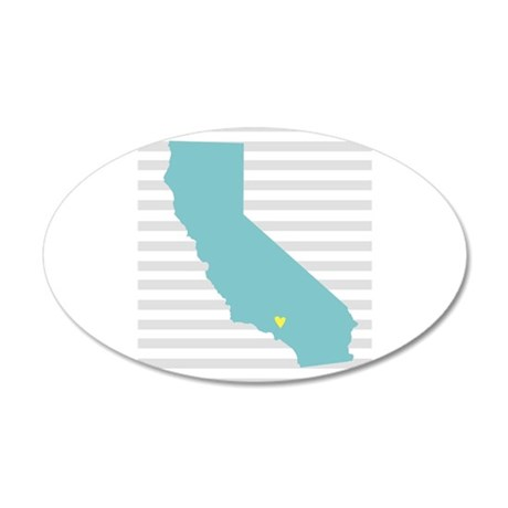 California Love 35x21 Oval Wall Decal