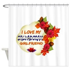 Salvadoran Girlfriend Valentine design Shower Curt