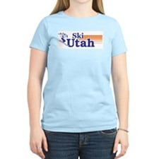 Ski Utah (female) Women's Pink T-Shirt