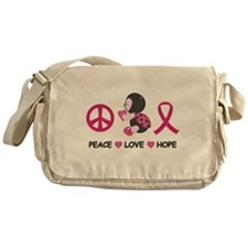 Ladybug Peace Love Hope Messenger Bag