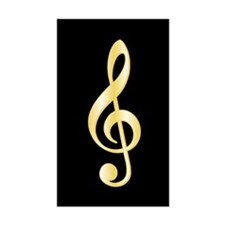 """Gold"" Treble Clef Rectangle Decal"