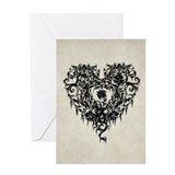 gothic-black-heart-9x12.jpg Greeting Card