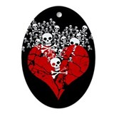 broken-heart-skulls_c.png Ornament (Oval)