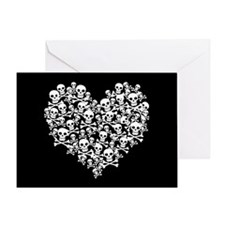 Skull Heart Greeting Card