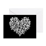 skullheart_c.gif Greeting Cards (Pk of 10)