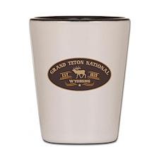 Grand Teton Belt Buckle Badge Shot Glass