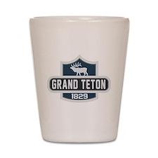 Grand Teton Nature Badge Shot Glass