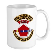 Army - 5th RCT - w Korean Svc Mug