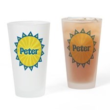 Peter Sunburst Drinking Glass