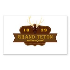 Grand Teton National Park Crest Decal
