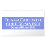ObamaCare is the Cure for Romnesia! Decal