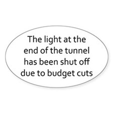 the light at the end of the tunnel Decal