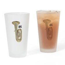 Tuba Player Heavy Metal iPhone Case Drinking Glass