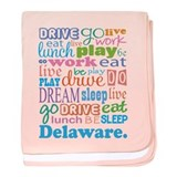live dream Delaware baby blanket