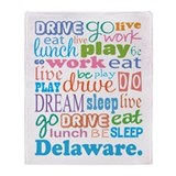 live dream Delaware Throw Blanket
