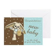 Modern New Baby Congratulations Greeting Card