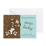 Modern New Baby Congratulations Greeting Card With