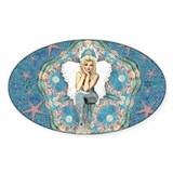 Sand Dollar Angel Rectangle Decal