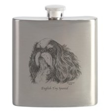 English Toy Spaniel Flask