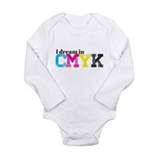 I Dream in CMYK Long Sleeve Infant Bodysuit